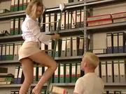 Anja in the office