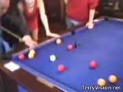 2 teens flash in an English pub