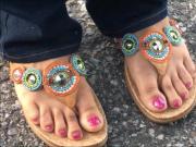 Ms Q Talyor Pink Toenails