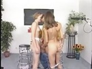 Young Maria & Friend take care of older guy