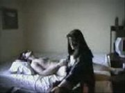 amateur wife fucking husband with strapon and handjob