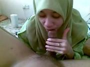 malay hijabi gives blowjob and rimjob