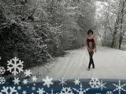 Trans Sissy Slut - Winter Outdoor Flash