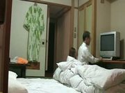Naughty Japanese Wife Flashes TV Repairman