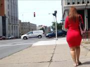 Jiggle Booty Latina Red Dress