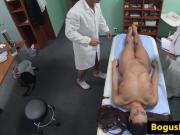 Hospital babe cockriding doctor after blowjob