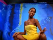 Cute ebony bukkake lady 1