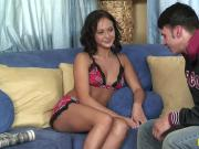 Horny lad gets to taste adorable Jessica Valentino