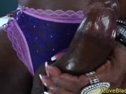 Lez ebony shemale cocksucked by ladyboy