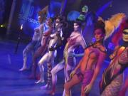 sexy girls nude body painting television show contest