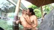 Rino Mizusawa in open air bath