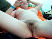 Hairy Self-Love in a tent-daddi