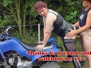 Hardcore fuck on motorbike with hot mom dutch rubens mature