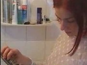 Redhead teen in bathroom