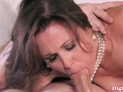 Mature busty cougar star Julia Ann facialized