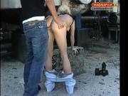 Strassenflirts: Blonde Edelstute aufgerissen