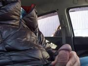 dick flash in car 5