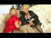 Hot Mature Cougars Pounce On Lucky Guy
