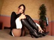 Knee High Long Boots Beautiful Girl