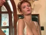 Greta Milos- Redhead In Public Bar Anal