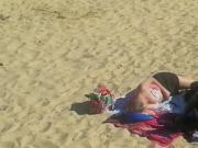 Busty lady on the beach