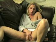 wife masturbating and squirts on the couch