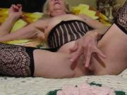 Wife Playing With Her Natural Blonde Pussy