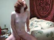 Petite Redhead Peggy Does Anal Dildo to Orgasm