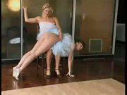 Spanked Ballerina