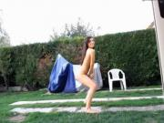 Dancing in yard