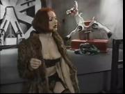 Beautiful redhead thrashes her sub