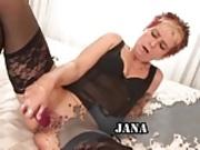 JANA - Redhead Granny - Anal Sex