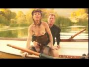 Cytherea with black stockings fucks on a boat squirt