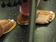 Redbone feet on 2 train