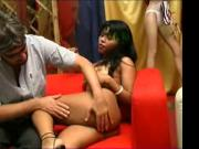 KRISS EBONY audition, lap dance and buggered