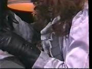 Vintage leather gloved sex