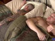 Mature tattooed boyfriend sixtynining stud