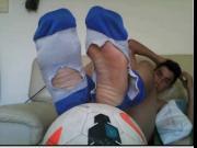 straight guys feet on webcam 48 soccer player