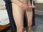 Skinny Teen Wanks with Old Cum