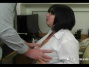 Busty secretary pleasing her boss