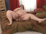 Fat mature fucked on the bed