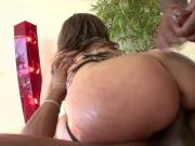 Oiled up PAWG gets assfucked by 2 BBC