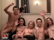 Nataly Gold and 2 +sluts celebrating birthday party