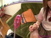 Japanese schoolgirl fucked doggystyle