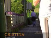 Cute teen walks around flaunting her fat cameltoe