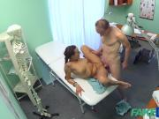 FakeHospital Patient gives his hot brunette nurse cream pie