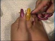Cutting long toenails xbabidollx