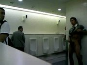 CMNM - Guy Masturbating in Public Toilets !