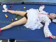 FUJISHIRO Mei on the pool table