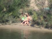 shy and horny girl rides cock on the river